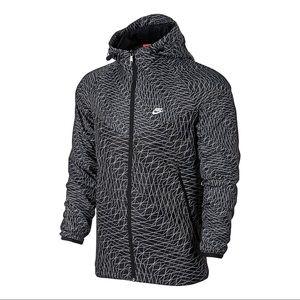Nike Windrunner Grid Print Hoodie Jacket